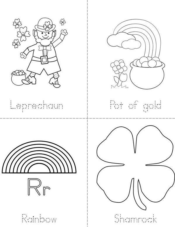 Happy St. Patrick's Day! Mini Book - Sheet 1