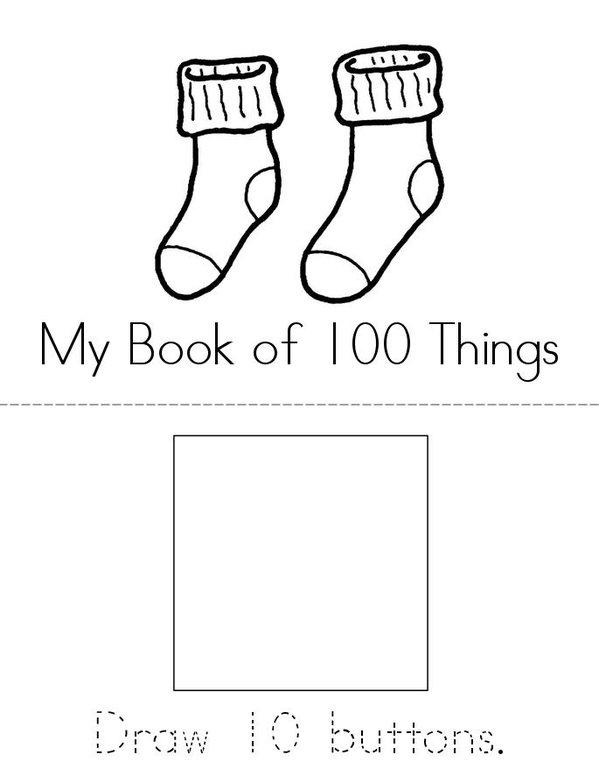 My Book of 100 Things Mini Book - Sheet 1