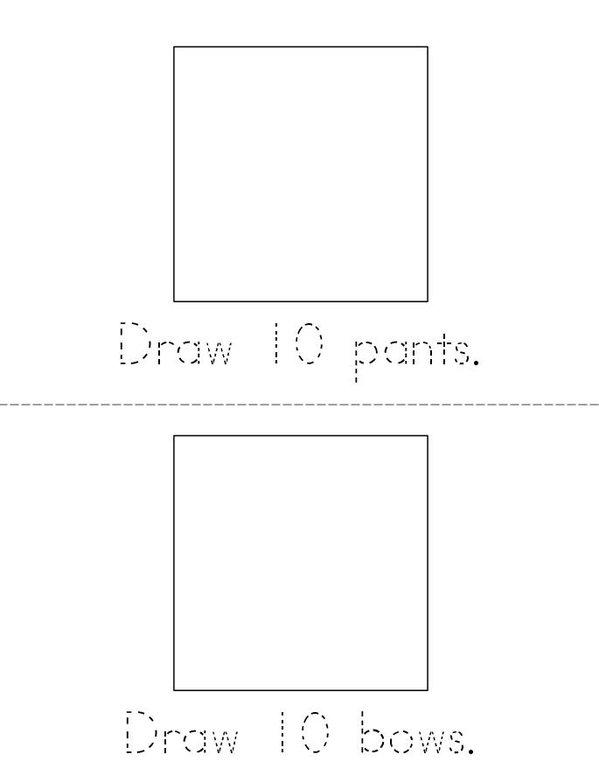 My Book of 100 Things Mini Book - Sheet 3