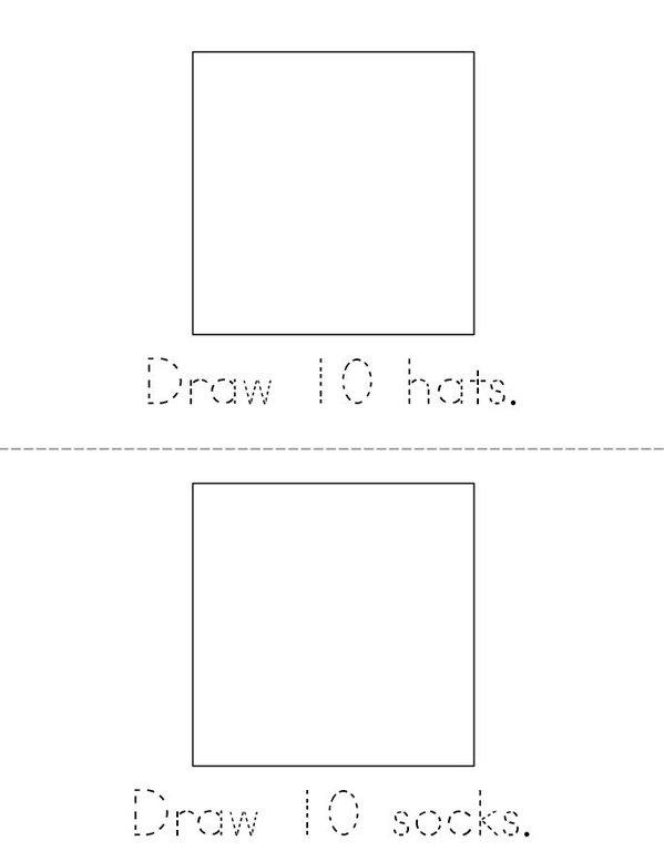 My Book of 100 Things Mini Book - Sheet 5