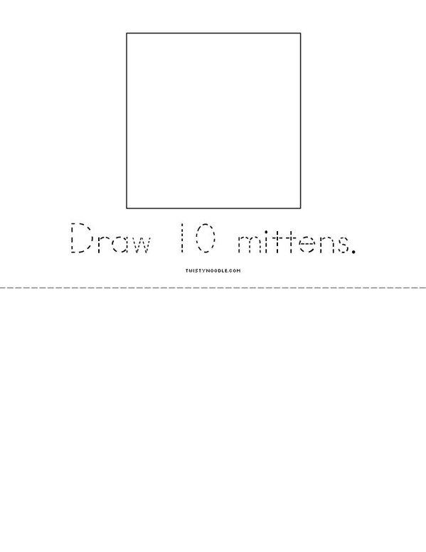 My Book of 100 Things Mini Book - Sheet 6