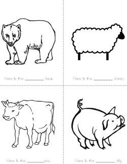 Animal Adjective Book
