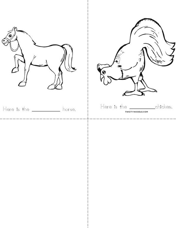 Animal Adjective Book Mini Book - Sheet 2