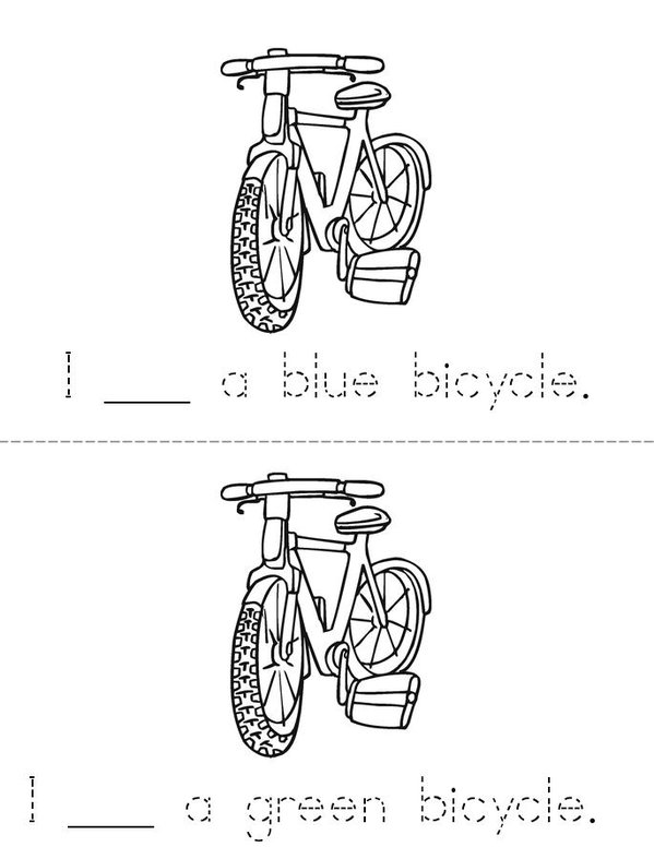I See Bicycles Mini Book - Sheet 2