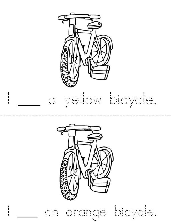 I See Bicycles Mini Book - Sheet 3