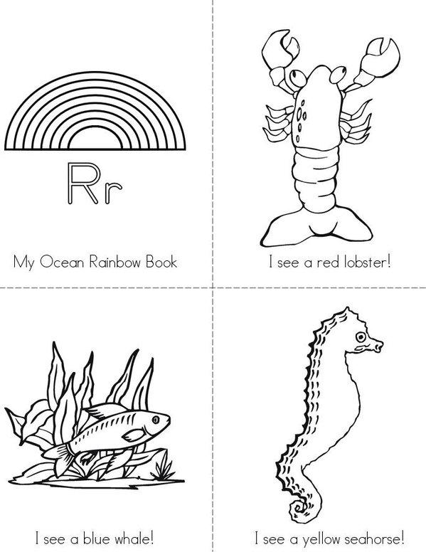 My Ocean Rainbow Mini Book - Sheet 1