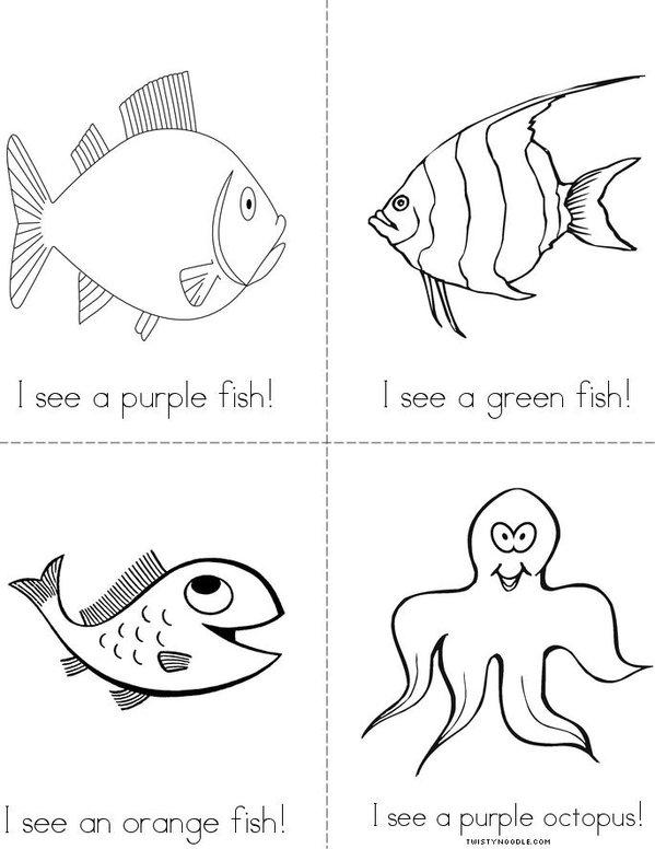 My Ocean Rainbow Mini Book - Sheet 2