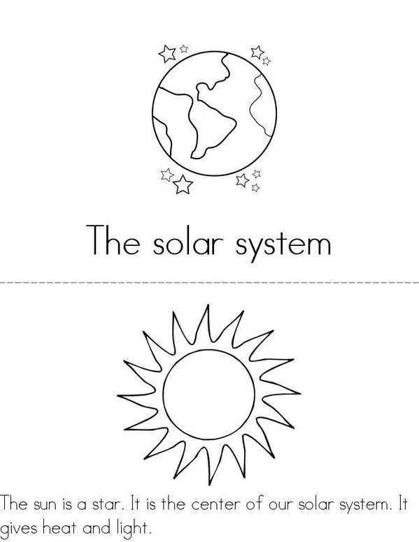 free printable solar system booklet - photo #4