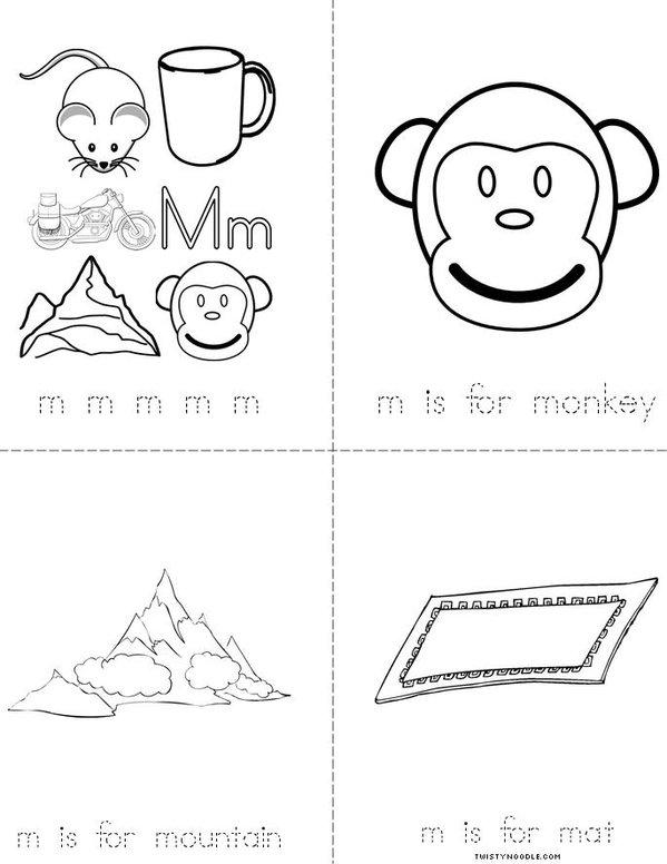 Letter M Mini Book