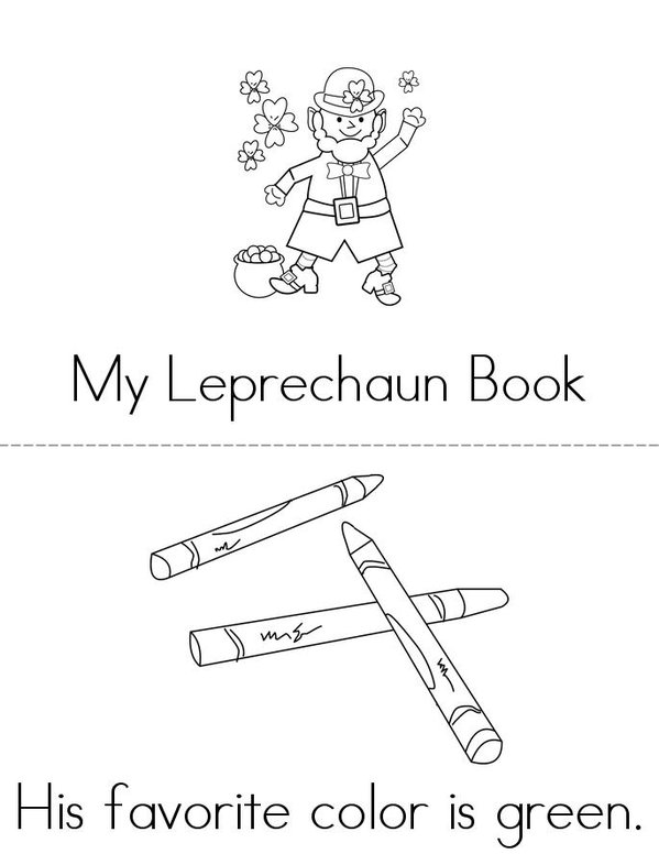 My Leprechaun Book Mini Book - Sheet 1