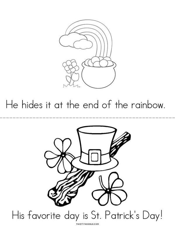 My Leprechaun Book Mini Book - Sheet 3