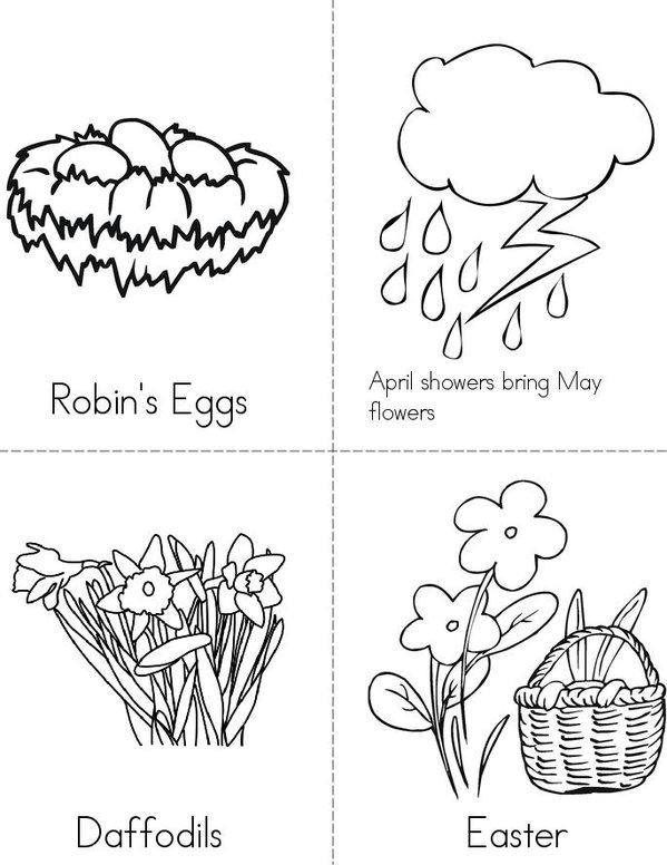 My Book of Spring Things Mini Book - Sheet 2