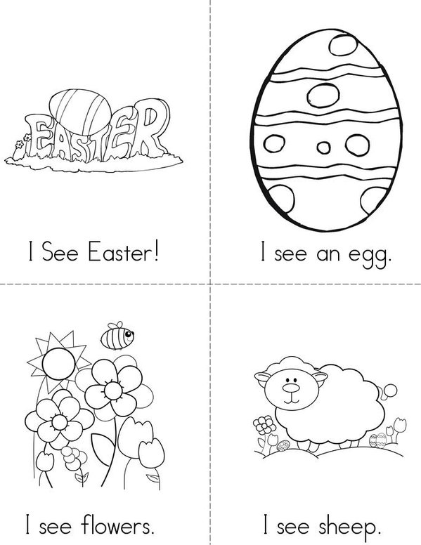 I see Easter! Mini Book - Sheet 1