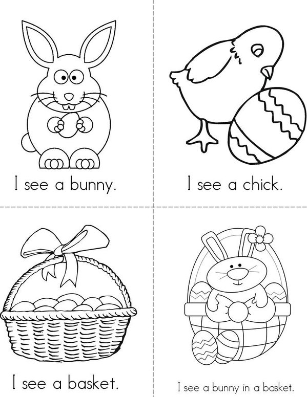 I see Easter! Mini Book - Sheet 2