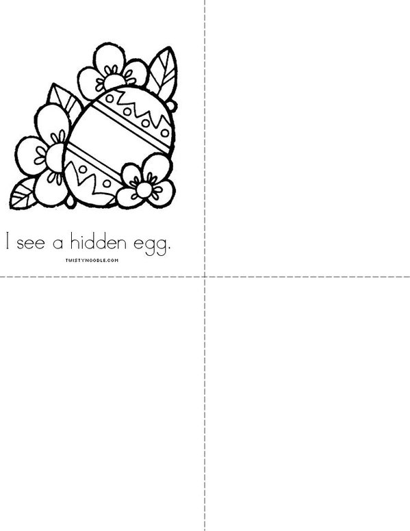 I see Easter! Mini Book - Sheet 4