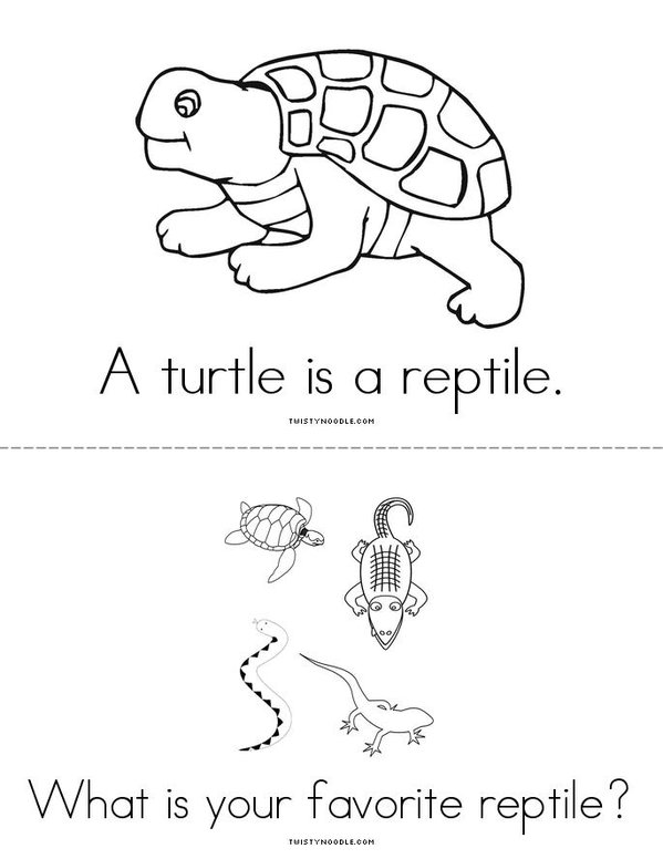 What is a reptile? Mini Book - Sheet 3
