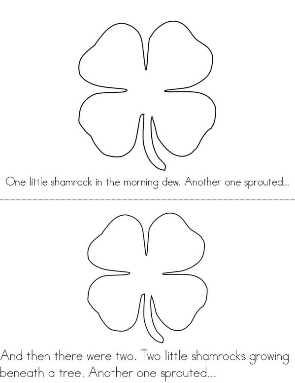 5 Little Shamrocks Mini Book - Sheet 1