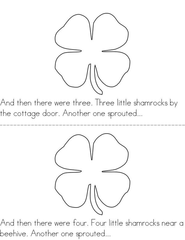 5 Little Shamrocks Mini Book - Sheet 2