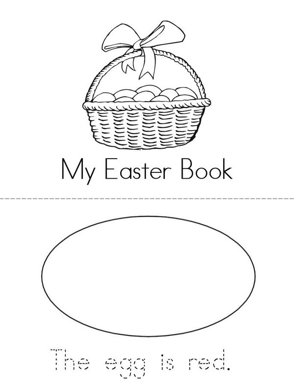 My Easter Egg Book Mini Book - Sheet 1