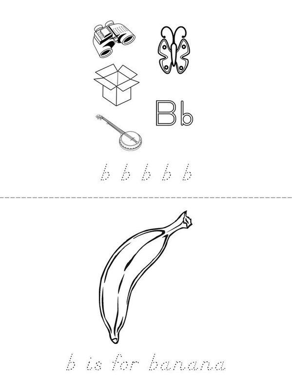 Letter B Book - Twisty Noodle