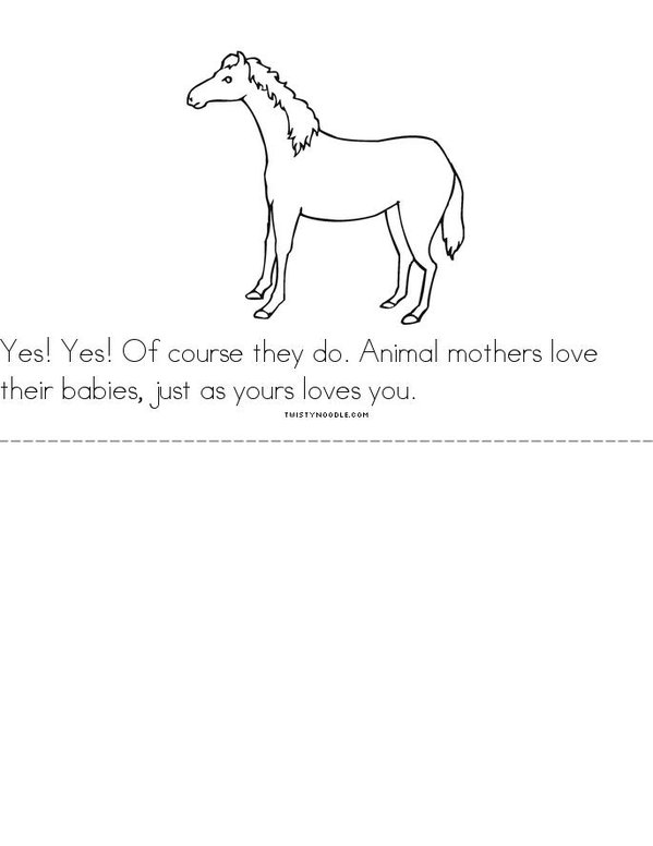 Does A Kangaroo Have A Mother Too? Mini Book - Sheet 3