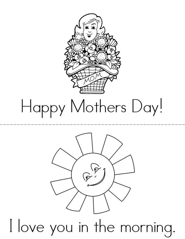 Happy Mother's day Mini Book - Sheet 1