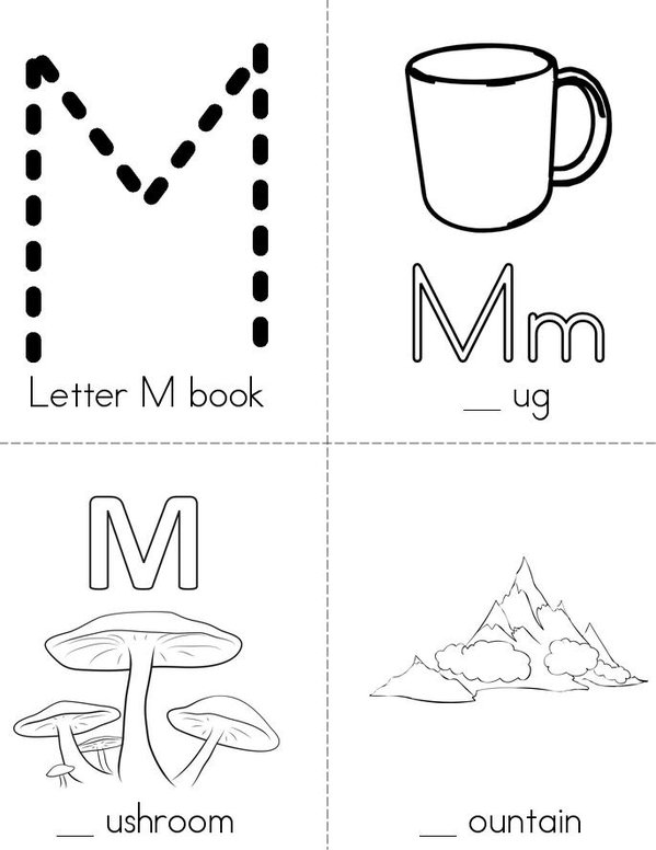 Fill in with M book Mini Book - Sheet 1