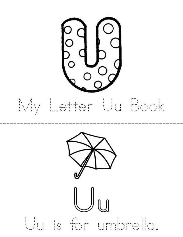 Umbrella Mini Book - Sheet 1