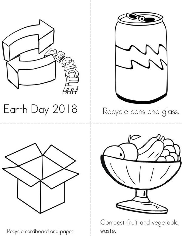 Recycle and Compost Mini Book - Sheet 1