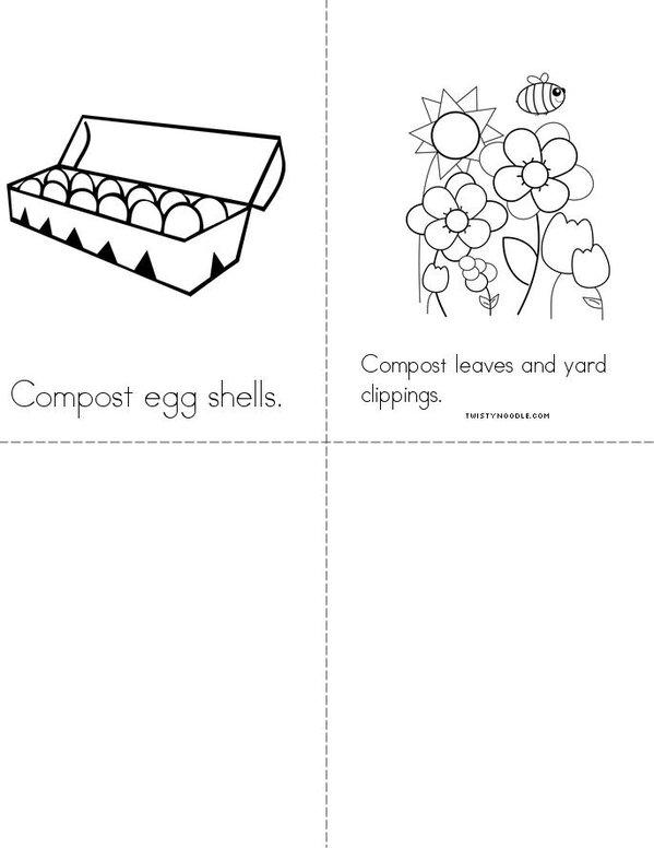 Recycle and Compost Mini Book - Sheet 2
