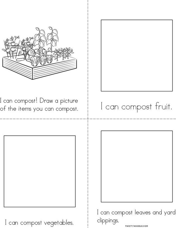 I can compost! Mini Book