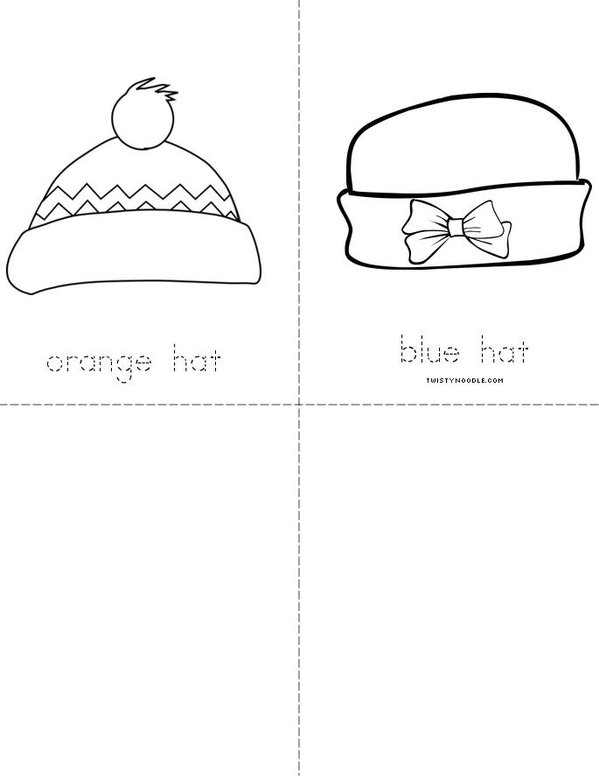 Colorful Hats Mini Book - Sheet 2