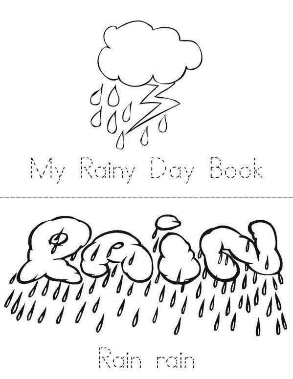 Rainy day Mini Book - Sheet 1