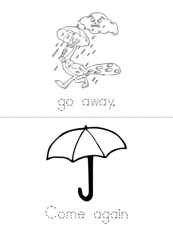Rainy day Mini Book - Sheet 2