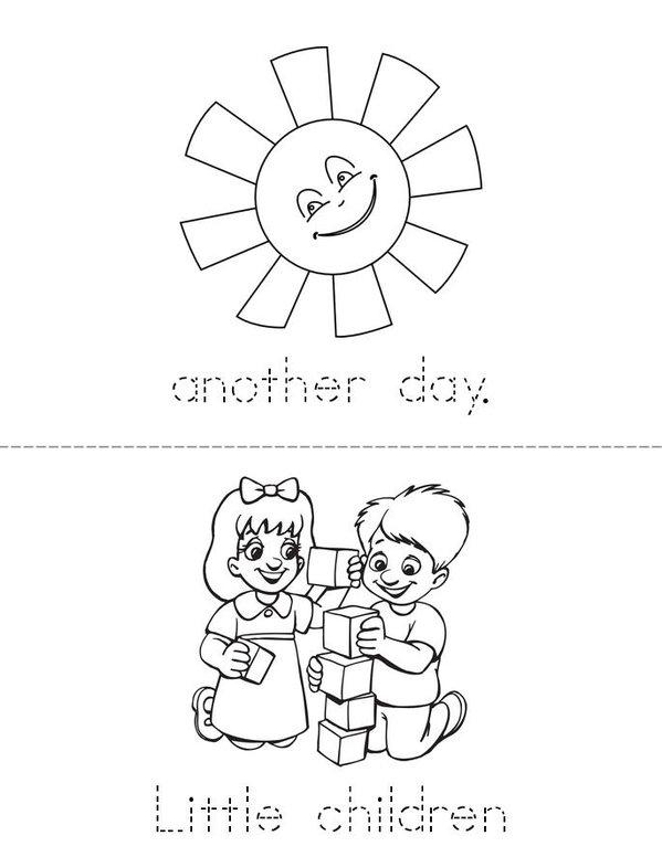 Rainy day Mini Book - Sheet 3