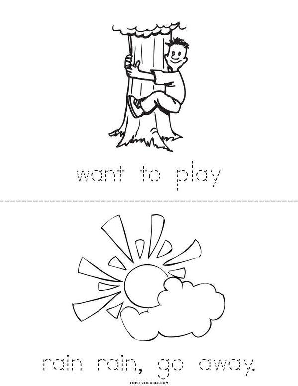 Rainy day Mini Book - Sheet 4