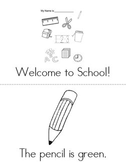 School is colorful! Book
