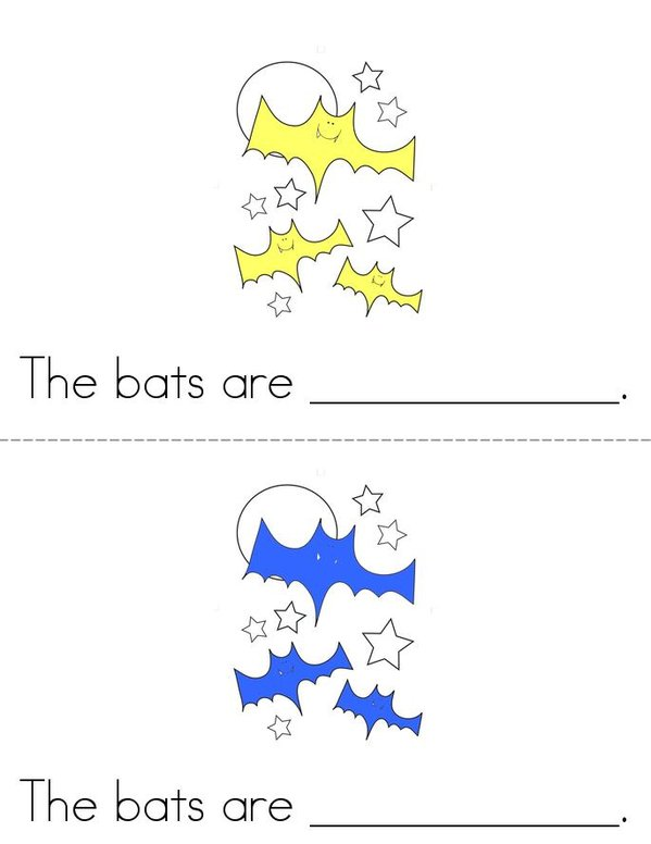 The Bats!  Mini Book - Sheet 1