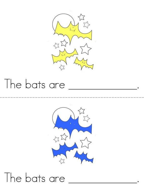 The Bats!  Mini Book - Sheet 1