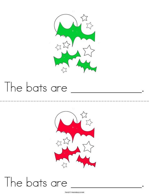 The Bats!  Mini Book - Sheet 2