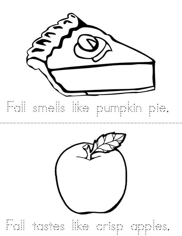 Fall Smells Like Pumpkin Pie! Mini Book - Sheet 1