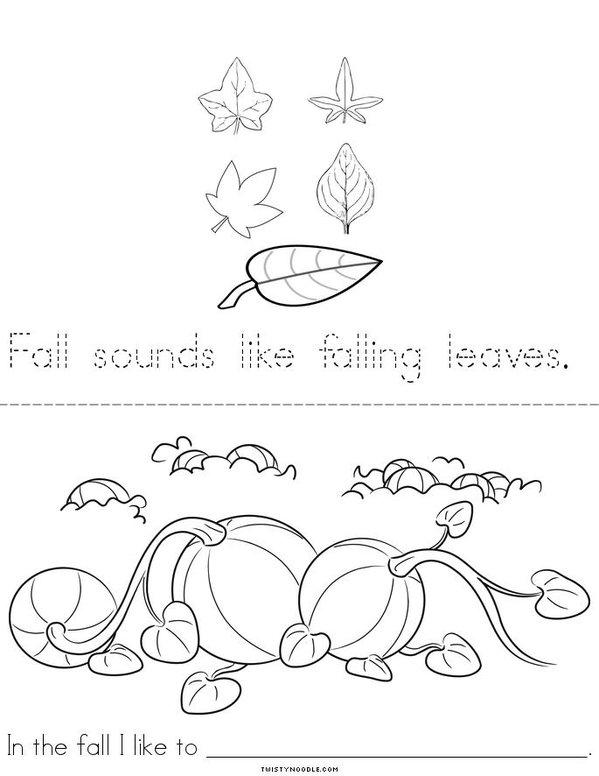 Fall Smells Like Pumpkin Pie! Mini Book - Sheet 2