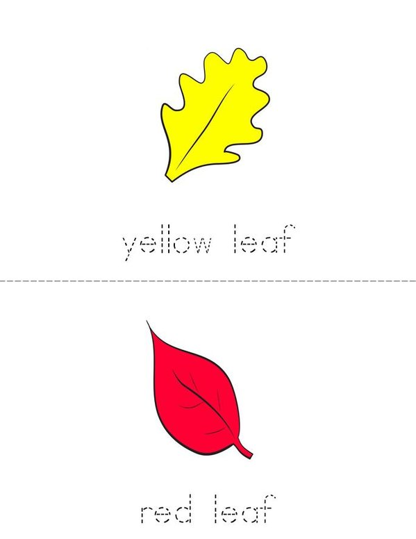 Color the Leaves Mini Book - Sheet 1