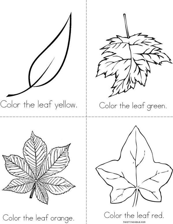 Color the Leaf Mini Book