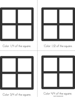 Square - Fractions Book