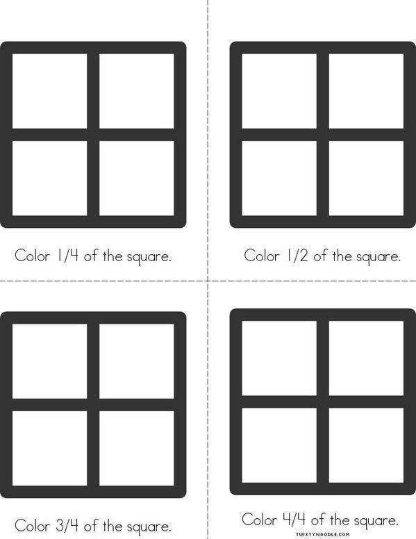Square - Fractions Mini Book