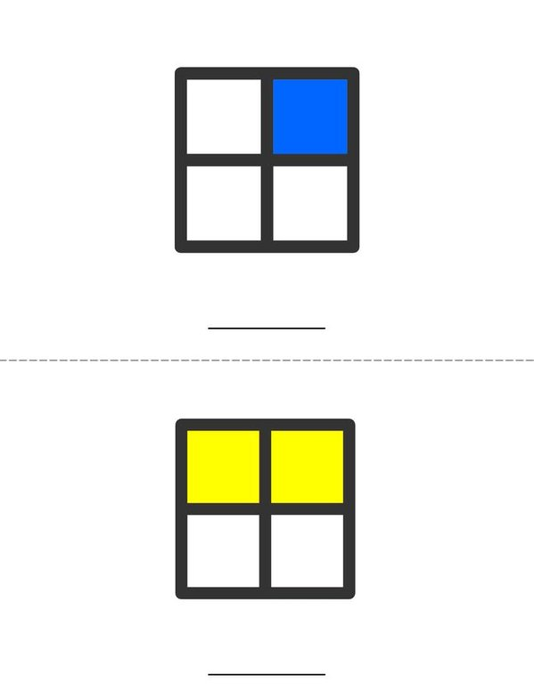 Write the Fraction Mini Book - Sheet 1