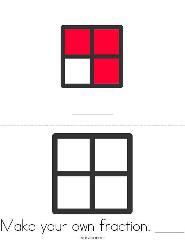 Write the Fraction Mini Book - Sheet 2
