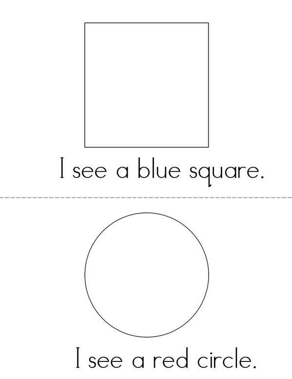 I see Shapes Mini Book - Sheet 1