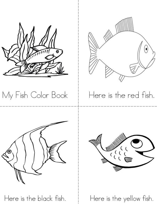 The Fish Color Book Mini Book - Sheet 1